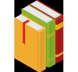 dibujo de varios libros de colores