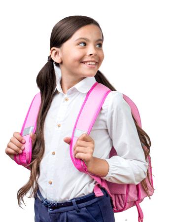 Foto de una chica con una mochila